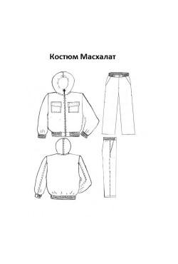 КОСТЮМ МАСХАЛАТ  АРТ. 11 сорочка (атак)